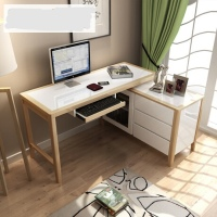 Office Desk Office Furniture Commercial Furniture panel modern office computer desk with drawers wholesale 2017 functional