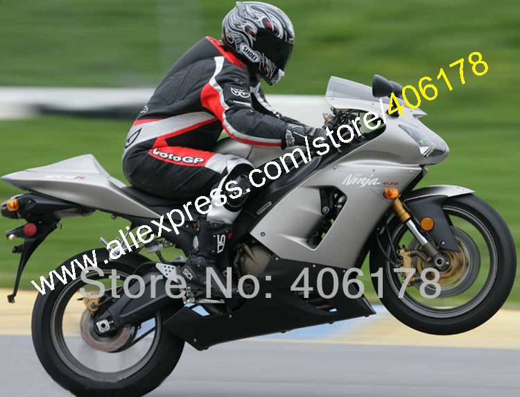 Hot Sales,for KAWASAKI ZX6R 636 2005 2006 ZX-6R ZX 6R 05-06 Gray black Motocycle Racing  ...