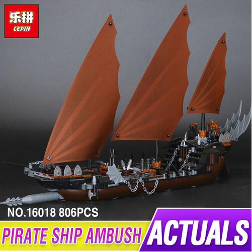 New Lepin 16018 Genuine The lord of rings Series The Ghost Pirate Ship Set Building Block Brick Funny Toys 79008 laying the ghost