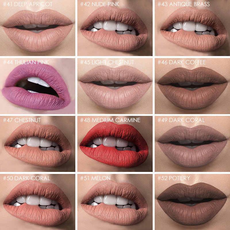 Focallure 12 צבעים נוזלי גוון שפתון מט גלוס אדום קטיפה עמיד למים לאורך זמן עירום שפתון