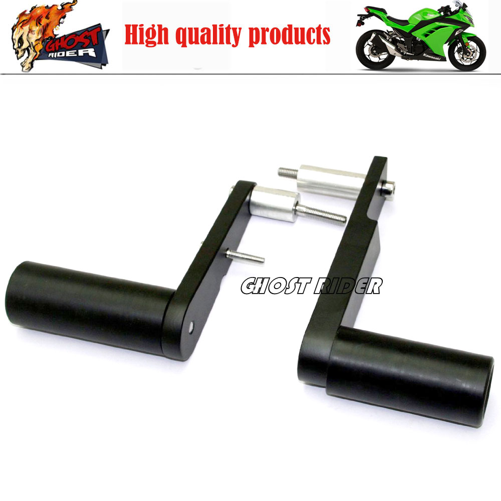 Aftermarket Free shipping Motorcycle Parts No Cut Frame Slider For Suzuki 2009 2010 2011 2012 Ninja 650 EX650 650R aftermarket free shipping motorcycle parts frame slider for yamaha 2004 2005 2006 2007 2008 2009 2010 2011 2012 fz6 fz6s 600 cn
