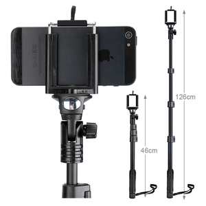 Image 3 - Yunteng 188 Handheld Portable Extendable Pole Telescopic Selfies Stick Camera Monopod Tripod Para Selfie for iPhone XS Max XR X