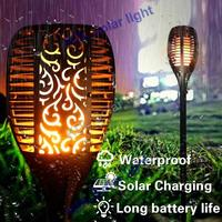4pcs/lot update Solar 96LEDs Lawn Dancing flame Torch Lights radar 3 working mode Led Solar Torch Lights Out update to lands