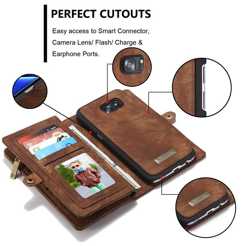 sFor Samsung Galaxy S7 / S7 Edge Case Lyx äkta läder hantverk - Reservdelar och tillbehör för mobiltelefoner - Foto 2