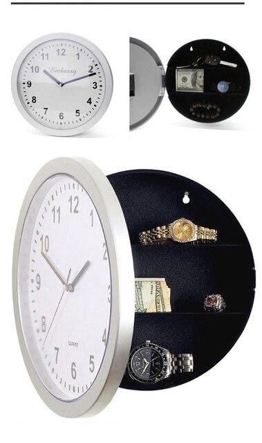brixini.com - Wall Clock with Hidden Secret Safe Box