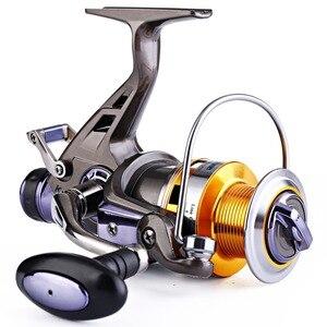 Image 4 - Sougayilang Рыболовная катушка для карпа, металлическая катушка с ЧПУ, двойной тормоз, спиннинговая Рыболовная катушка, колесо для Пресноводной и морской рыбалки для путешествий