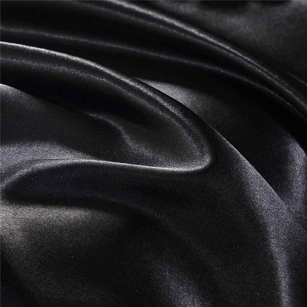 100% tinh khiết satin lụa bộ đồ giường thiết lập Nhà Vua Dệt kích thước giường đặt trải giường quần áo chăn gối che tấm phẳng