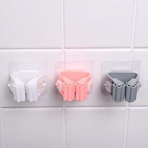 Image 4 - 1/2/5 шт. Креативный держатель для швабры, настенный держатель для швабры, домашняя вешалка для метлы, крючки для кухни, ванной комнаты, Органайзер