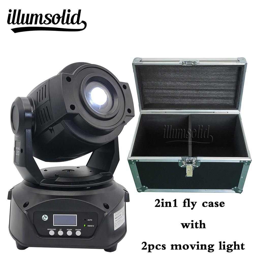 lyre led dmx light moving head 90W spot disko light with flight case