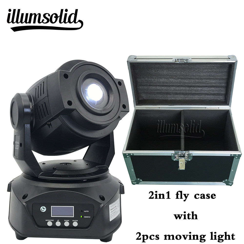 Lyre Led Dmx Light Moving Head 90W Spot Disko Light With Flight Case
