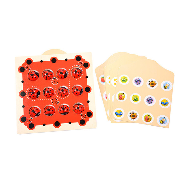 Wooden Pair Game Checkerboard Memory Training