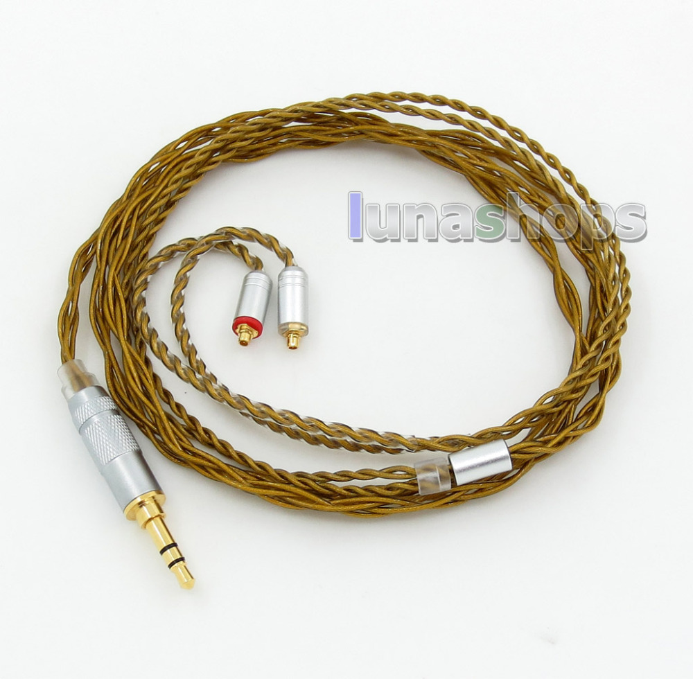 Brown L 4 Cores PVC OCC Silver Plated Earphone Cable For Westone W4r UM3X UM3RC ue11 ue18 JH13 JH16 ES3 ali007 LN005945 hi end 8cores silver plated westone headphone upgrade cable for w4r um3xrc ue18