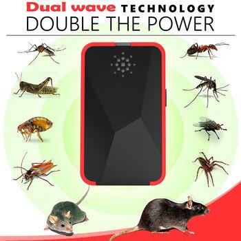 Mosquito asesino electrónica repelente rechazar rata ultrasónico repelente de insectos ratón antiroedores error rechazar UE nos Reino Unido enchufe Universal