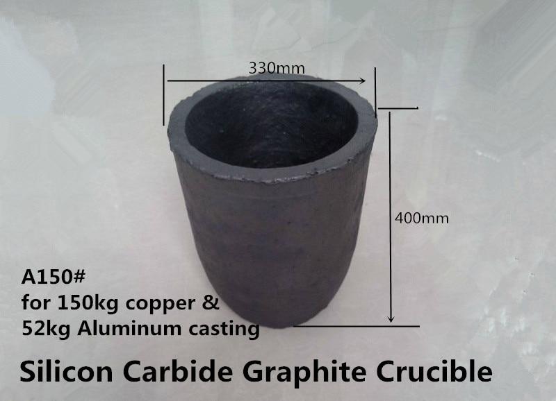 A150# Silicon Carbide Graphite Crucible     for 150kg copper &  52kg aluminum      /high temperature melting pot