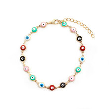 New Fashion Summer Beach Anklet Bracelet Metal Eyes Footchain Bohemian Adjustable Chain Anklets Jewelry