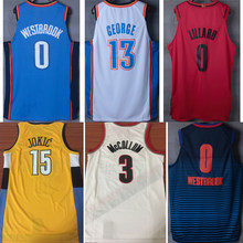 New men basketball jerseys Russell Westbrook Paul George Damian Lillard CJ  McCollum Nikola Jokic jersey for fceaf5d1a