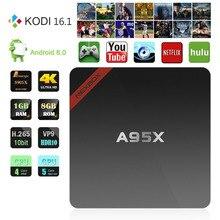 1 GB/8 GB Mini A95X Nexbox Set-top-Box Neue Android 6.0 Amlogic S905X Smart TV Box Quad-core 64bit KODI 16,1 4 Karat Smart IPTV