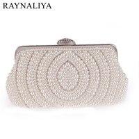 Hot Selling Women Handbags Beaded Rhinestones Purse Evening Bags Messenger Lady Pearl Diamonds Clutches Bag XST A0020