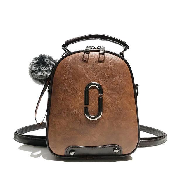 7d9ffef09ad0 Female Shoulder Bag Casual Crossbody Travel Bagpack Leather Zipper Small  Backpack For Women Designer Bolso Mujer