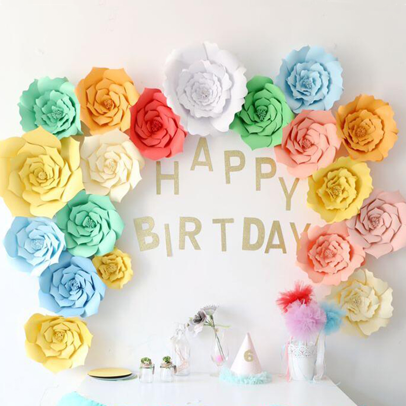 How To Do Birthday Decoration At Home: Aliexpress.com : Buy 2pcs 20cm DIY Paper Flowers Kids Baby