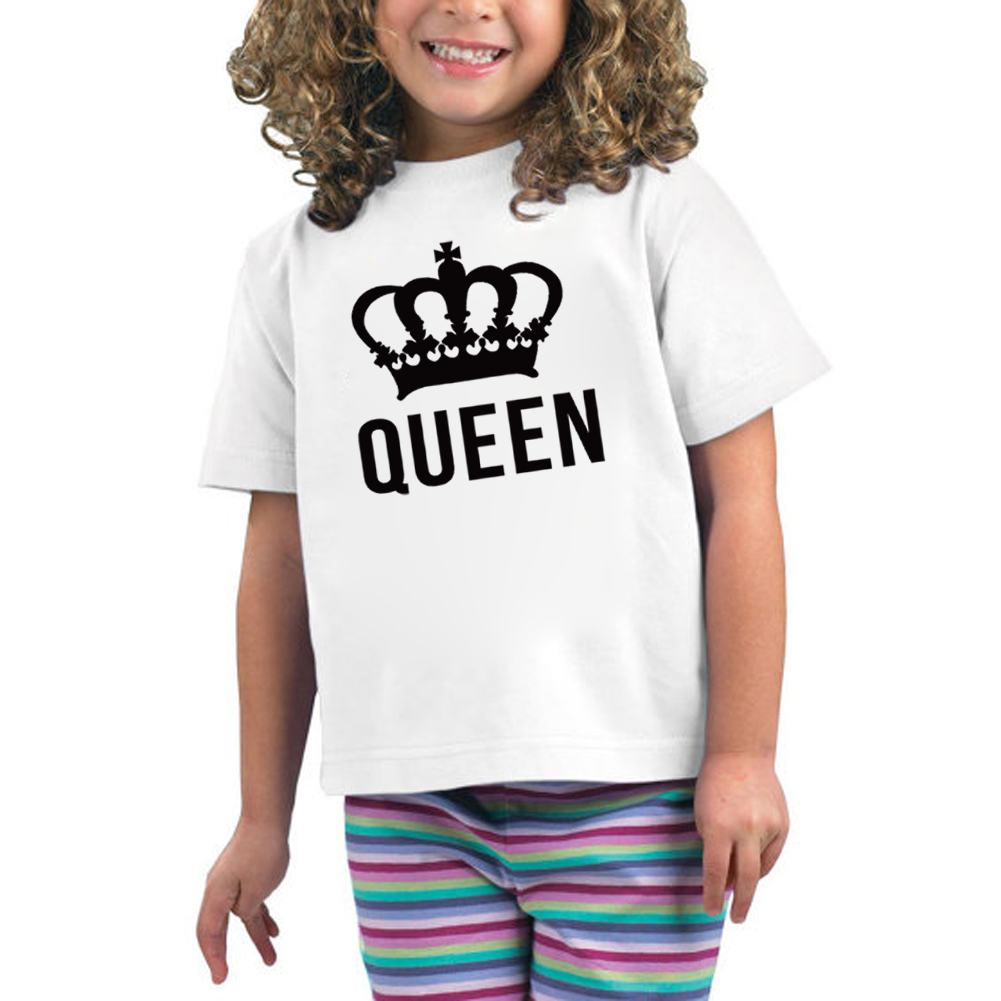 Design t shirt baby - Cute Baby Girls T Shirt Children S Clothes King Queen T Shirt Brand Design Kids Baby