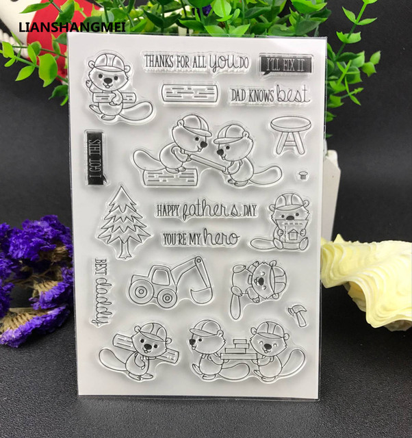 Buliding Transparent Clear Silicone Stamp/Seal for DIY scrapbooking/photo album Decorative clear stamp sheets