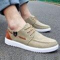 Горячая 2015 Новая Мода Известный Бренд Роскошных Обувь Для Mens Высокого качество Низкие Повседневная Обувь Холст Ленивые шнуровке Плоским Обуви 39-44