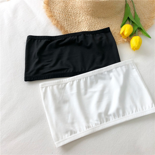 Women Crop Top Camis Black White Summer Blouse Clothes Tube Top Fashion Short Tank Tops Ladies Casual Polyester & Cotton 5