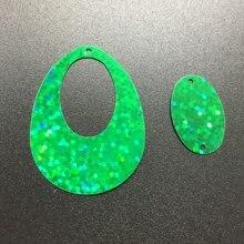 50 г 25*40 мм Большой размеры полое яйцо падение овальной формы блёстки пошивное ремесло, для женщин Дети Diy одежды интимные аксессуары лазер зеленый