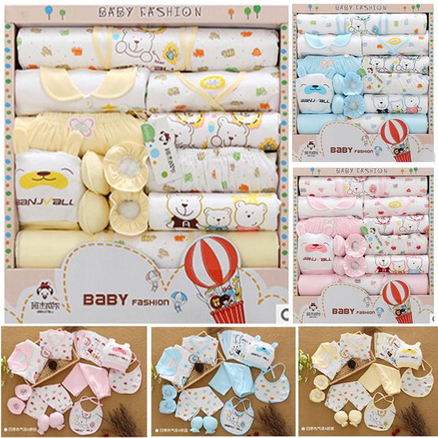 18 PCS/Presente/Set Novo Estilo Conjunto de Roupas de Algodão Do Bebê/Recém-nascidos Presente Vendas Hot/Infantil Bonito roupas/Frete Grátis