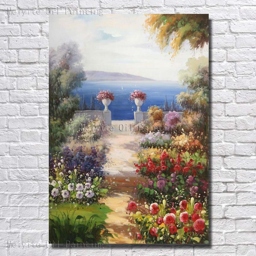 Sunshine Nature Landscape Canvas Wall Art Hand Paint Wall Pictures For Living Room Wall Decoration