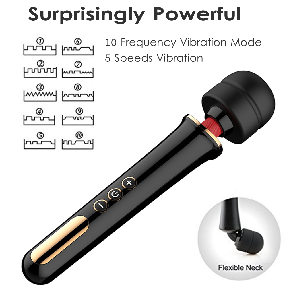 New Super Powerful 5 Speed 10 frequency vibration G-Spot AV Wand Sex Toys,Magic Wand Massager Vibrators Sex Products For Woman