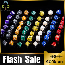 7pcs Digital Dice Set D4,D6,D8,D10,D10%,D12,D20 Dungeons Dragons Polyhedral Acrylic Dice Accessories for Board Game,DnD, RPG GYH(China)