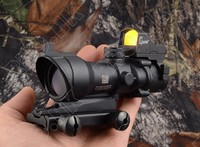 Tactical Trijicon acog style 4x32 Rifle scope and 1x docter red dot sight hunting shooting M2833 M7830