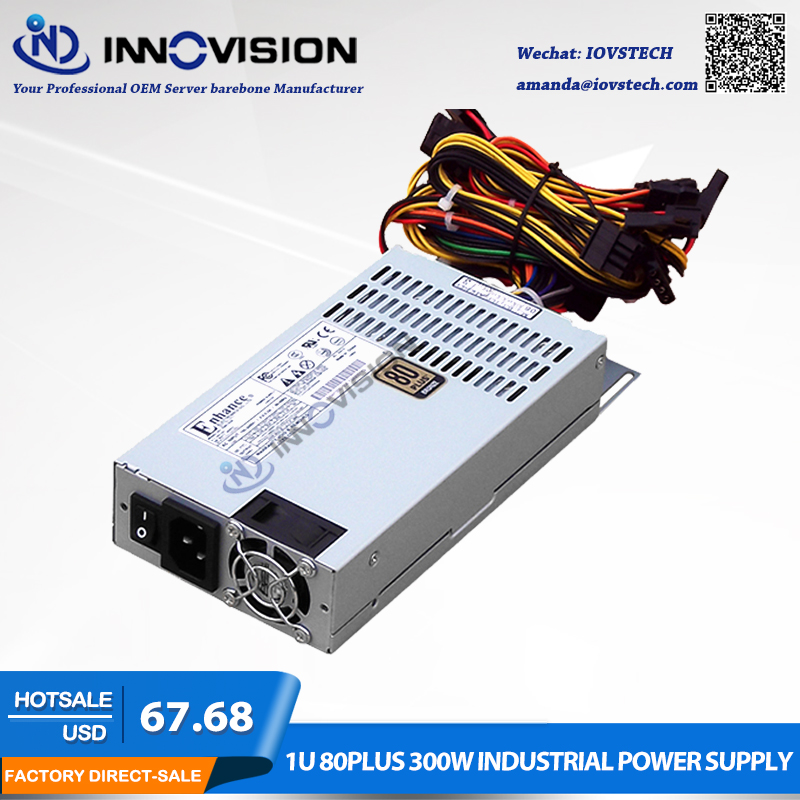 цена на High efficiency Rated 300W 80plus industrial Power Supply PSU for 1U server
