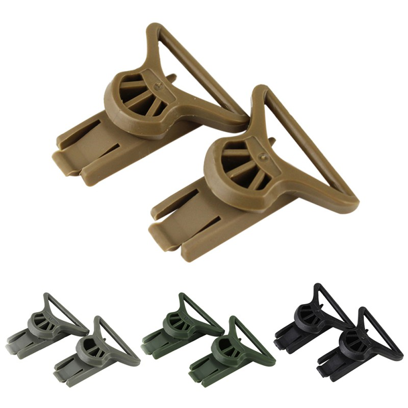 2xFast Helmet Vision Goggle Buckles Clips Airsoft Tactical Helmet Accessorie ~