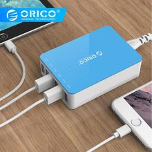 ORICO CSA 6 Ports USB Fast Charger Desktop Power Adapter Charger 5V 2.4A 50W for iPhone Samgsung Xiaomi Huawei USB Charging orico odc 2a5u v1 smart charging desktop charger with 2 ac outlets and 5 usb ports for phones iphone 7 tablets and desktops