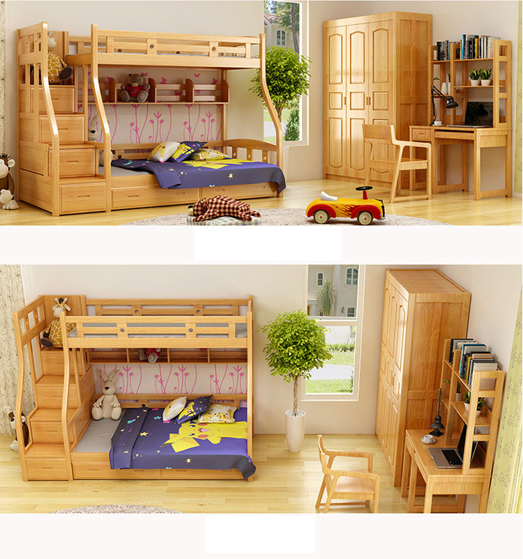 Niños Muebles de Dormitorio Camas Para Niños Y Niñas Castillo Cama ...