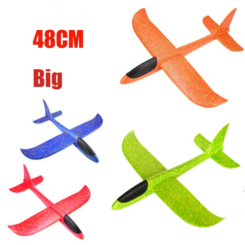 48cm/38cm  Big Hand Launch Throwing Foam Palne EPP Airplane Model Glider Plane Aircraft Model  DIY Educational Toy For Children