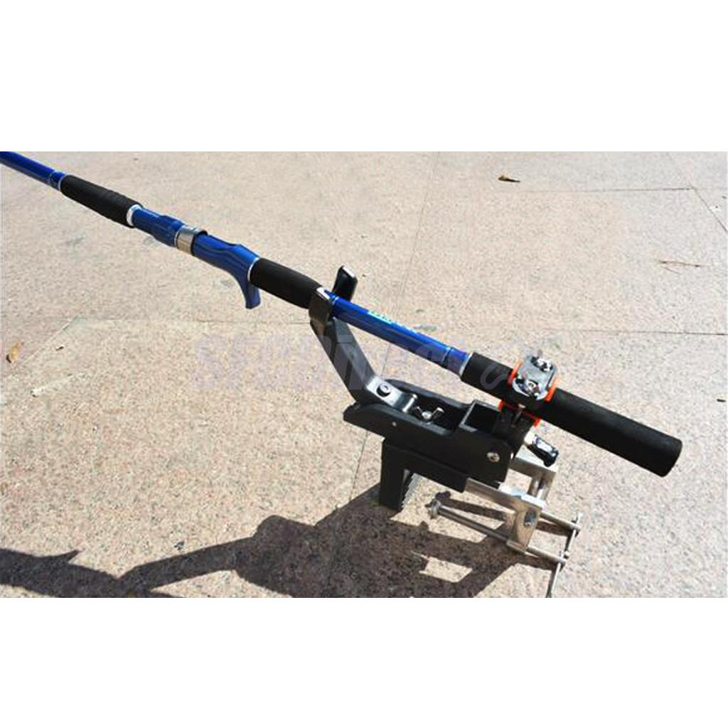 Boat Sea Fishing Rod Bracket Holder Stand Adjustable Pole Mount Clamp Clip Max.opening 21cm stainless steel adjustable single spring automatic fishing rod pole bracket max tension 50kg sea fishing rod stand holder