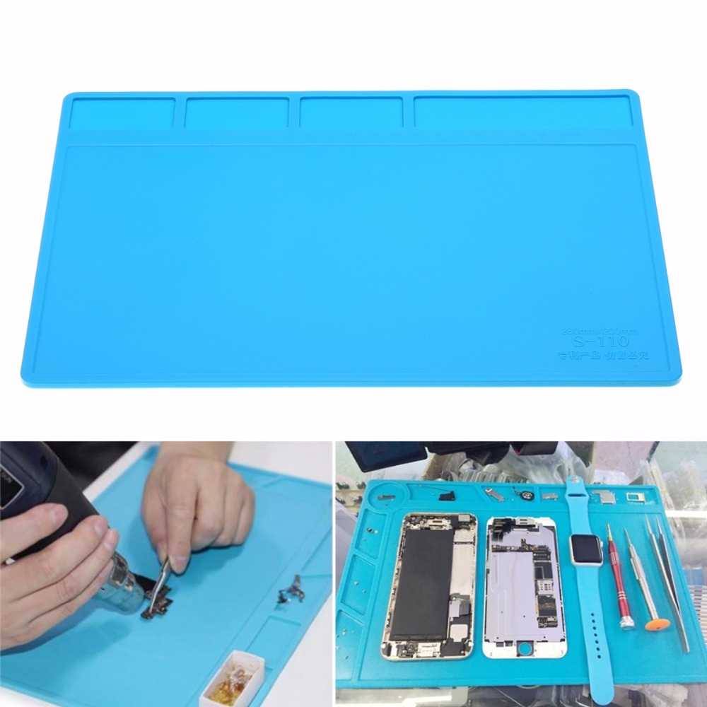 Scaffold Desk Mat : מוצר mayitr pc heat insulation silicone soldering pad