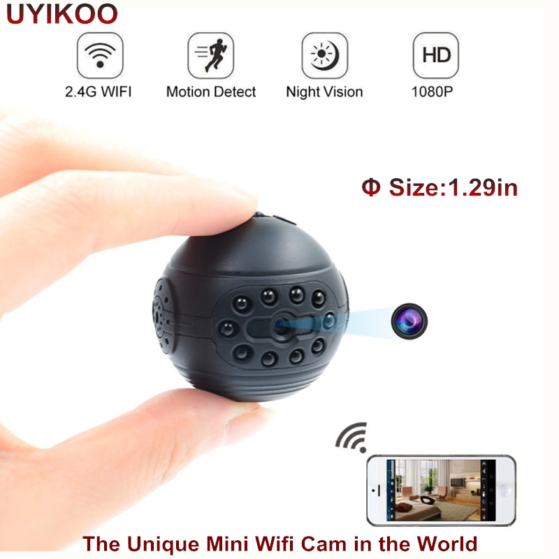 2018 New Wireless Mini Camera H.264 1080p HD Wifi IP DV DVR Cameras Support Mobile Phone View Night Vision Micro Round Body Cam
