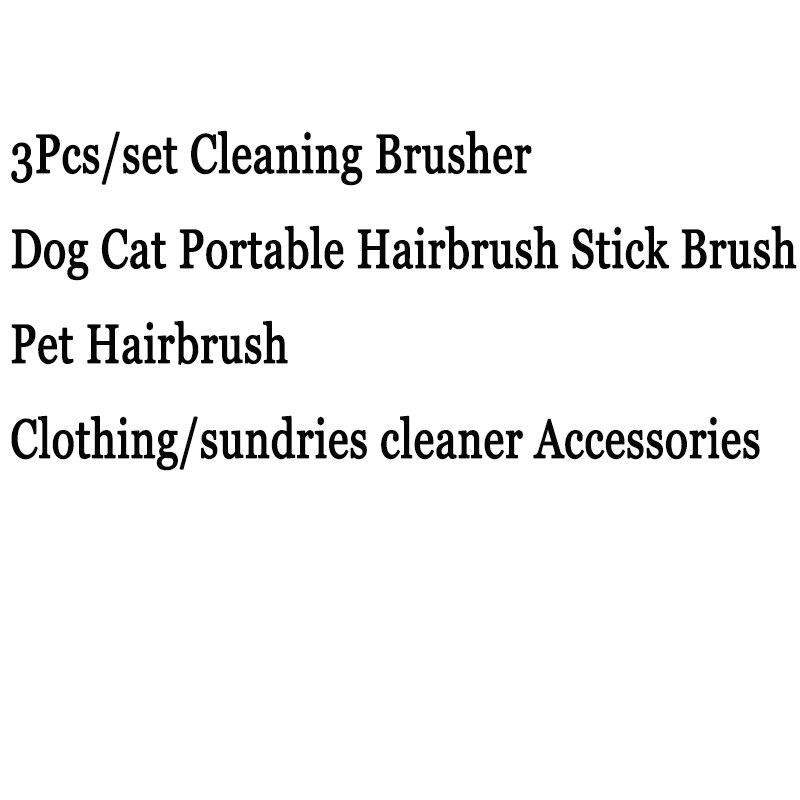 3 unids/set cepillo de limpieza para mascotas perro gato cepillo de pelo portátil cepillo para el pelo para mascotas envío directo y envío rápido