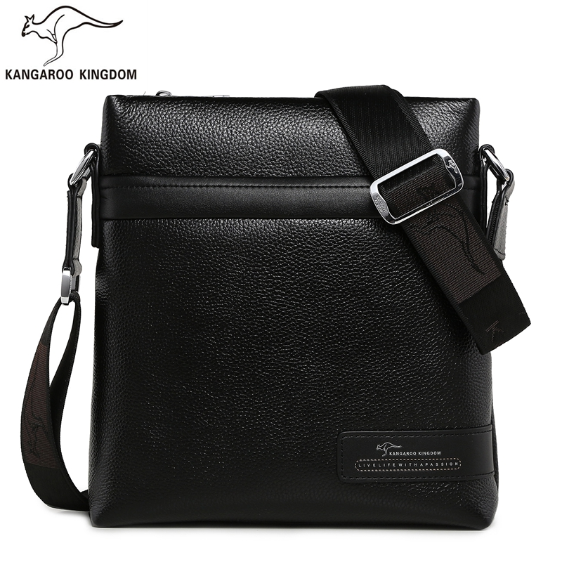KANGAROO KINGDOM Luxury Genuine Leather Men Bag Business Male Crossbody Shoulder Messenger Bags kangaroo kingdom famous brand nylon men bag chest pack male one shoulder crossbody messenger bags