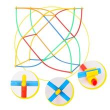 Цветные детские забавные Noverty 100 шт. Пластик для маленьких мальчиков и девочек соломенная строительные блоки совместного развития игрушки геометрической формы Форма блоки P5