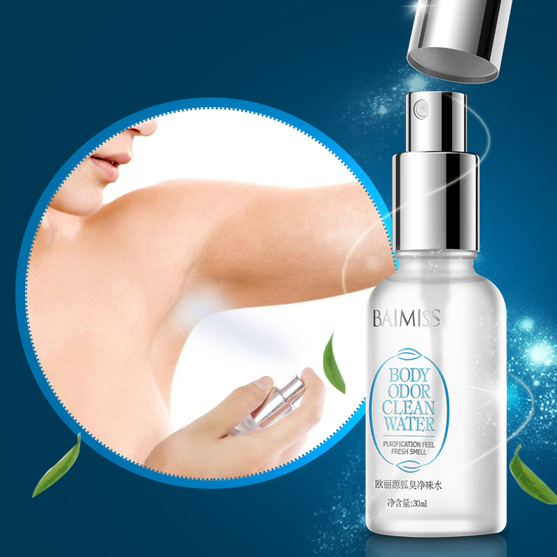 BAIMISS Ouliyuan Body Odor Clean Water Deodorants Herbal Antiperspirants Spray 30ML
