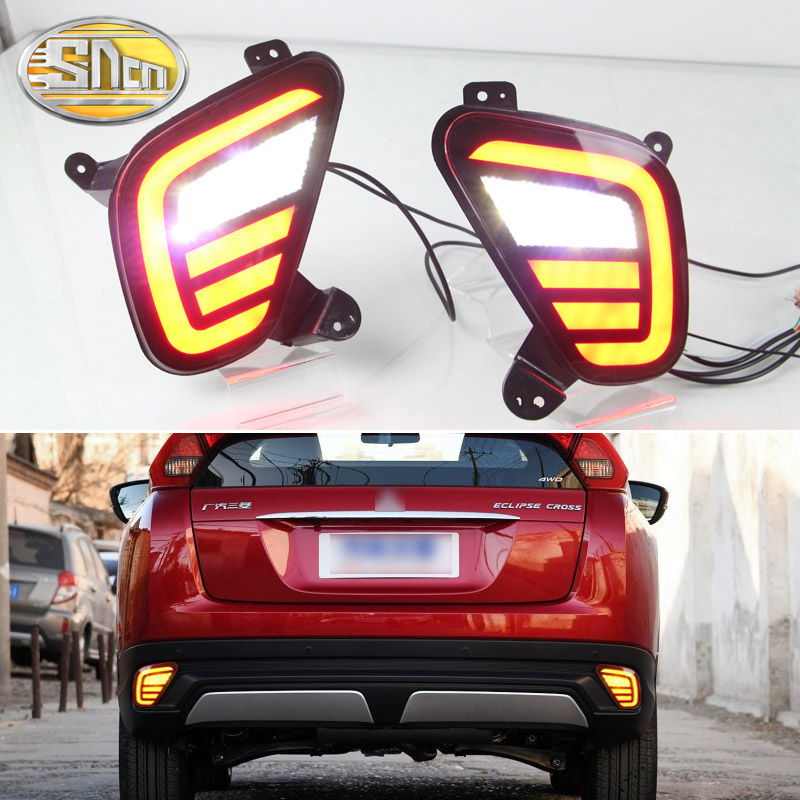 For Mitsubishi Eclipse Cross 2018 2019 Multi functions LED Rear Bumper Light Fog Lamp Brake Light