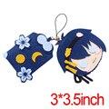 Anime Touken Ranbu Mikazuki Munechika Plush Doll DIY  Keychain Phone Strap free shipping