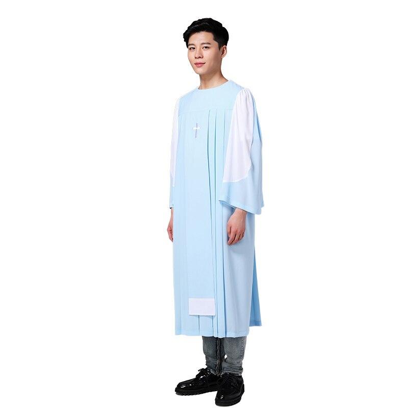 Costume de poème saint chrétien de qualité standard des états-unis dans le costume de noël Costume de poème saint du seigneur église robe de choeur à manches longues