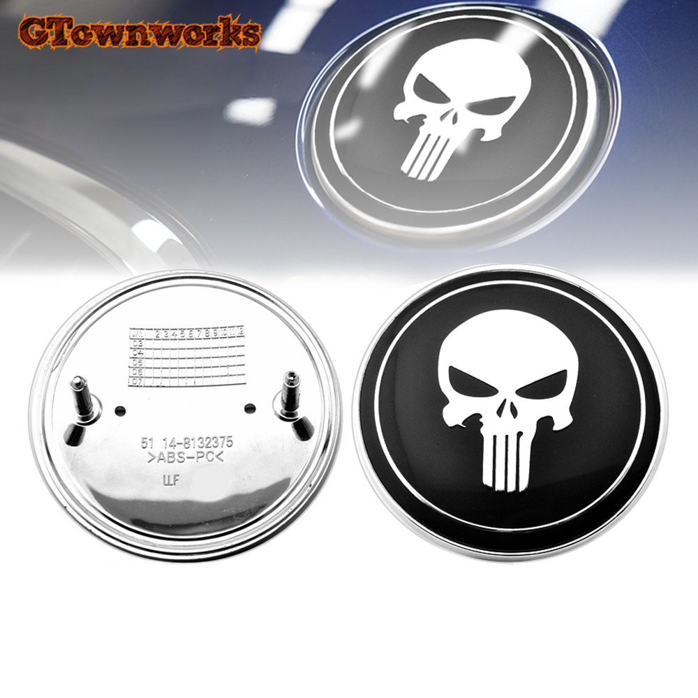 Image 4 - Punisher Skull Car Hood Emblem Badge Ornament for bmw 82mm X6 M3 Sedan E39 E46 E36 E90 Replace OEM 51148132375-in Emblems from Automobiles & Motorcycles
